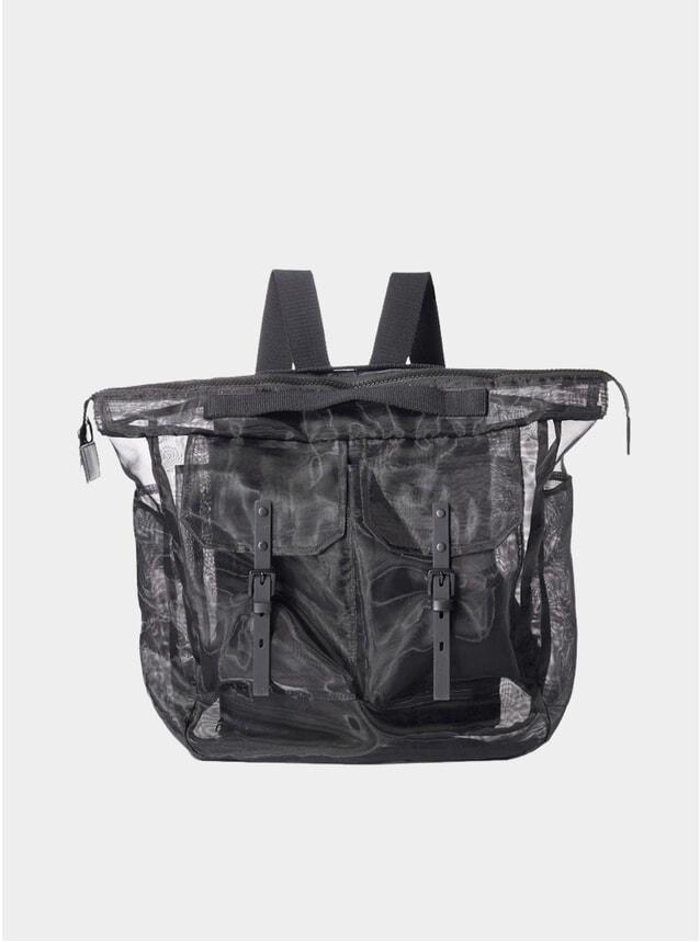 Black Frank Large Sheer Rucksack
