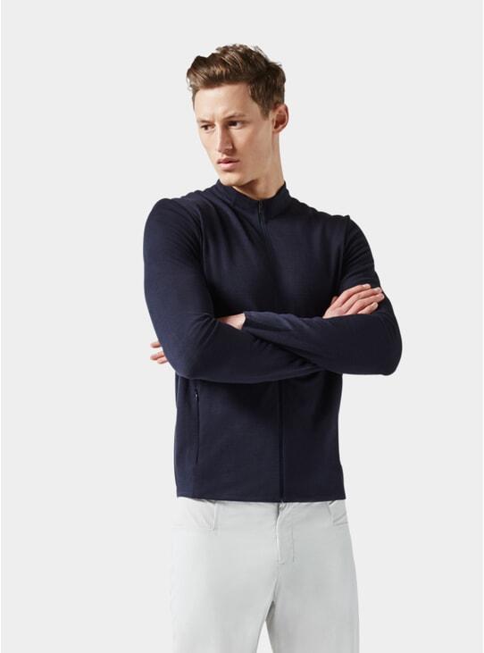 Dark Blue Jersey Jacket
