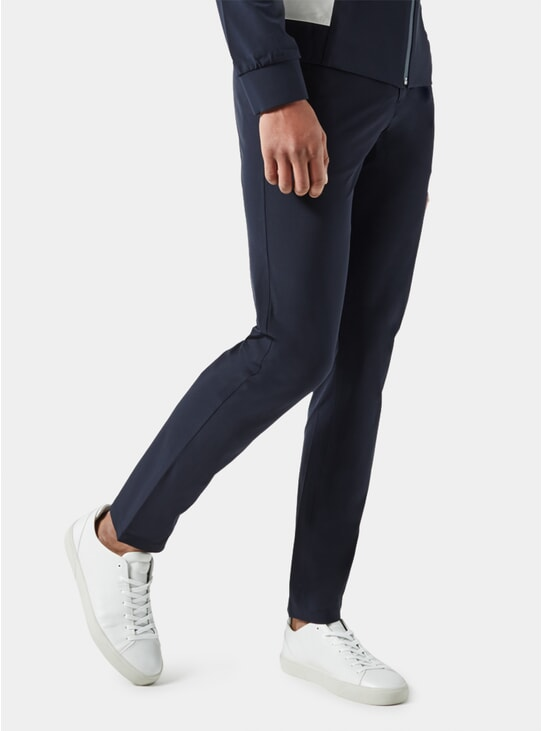 Dark Blue Slim Fit Trousers