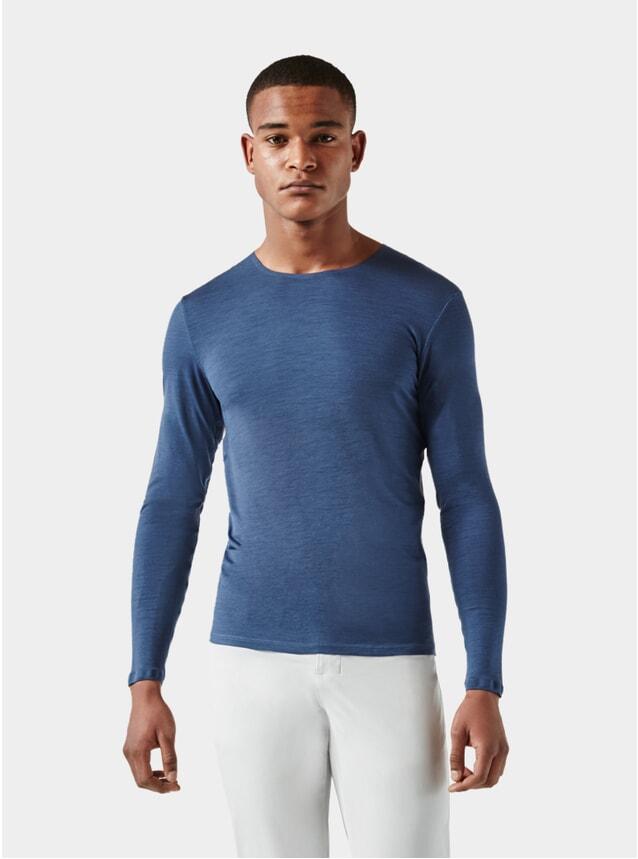 Mid Blue / Light Grey Long Sleeve Jersey