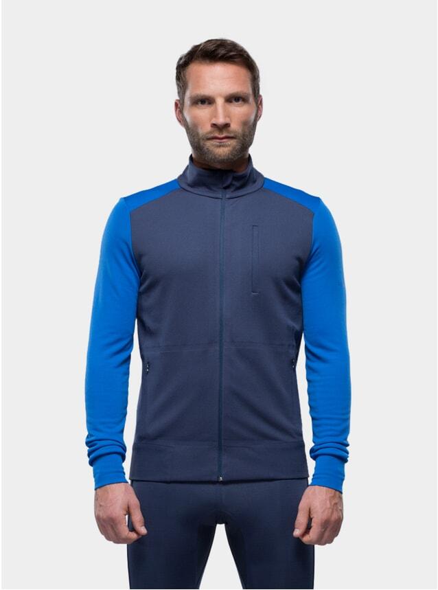 Navy Blue Jersey Jacket