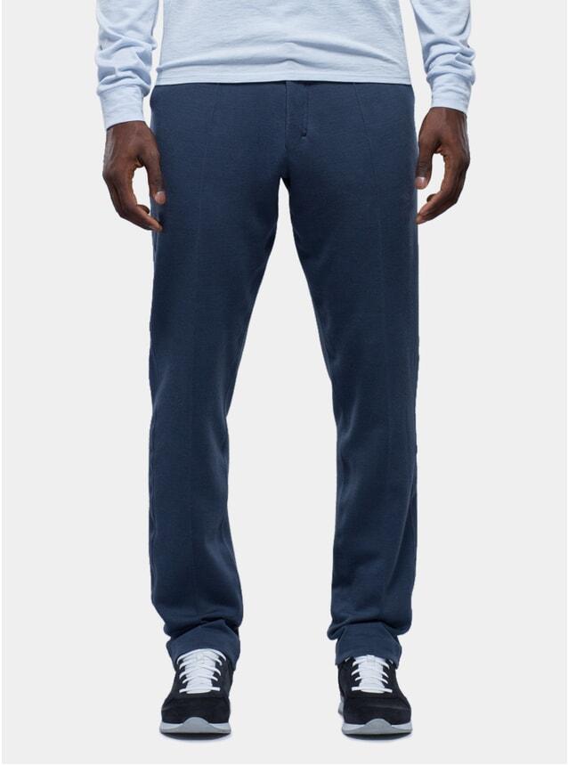 Navy Merino Wool Trousers