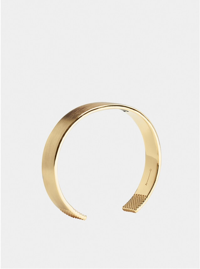 Gold 10mm Grid Cuff