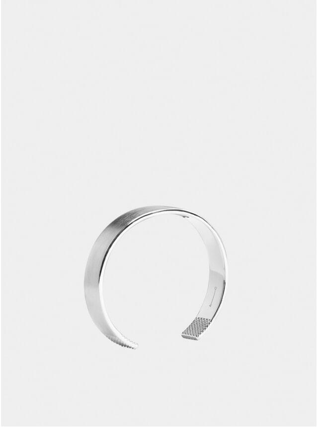 Silver 10mm Grid Cuff