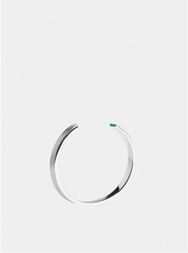 Silver & Emerald 7mm Cuff