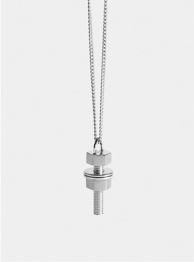 Silver Nut & Bolt Pendant
