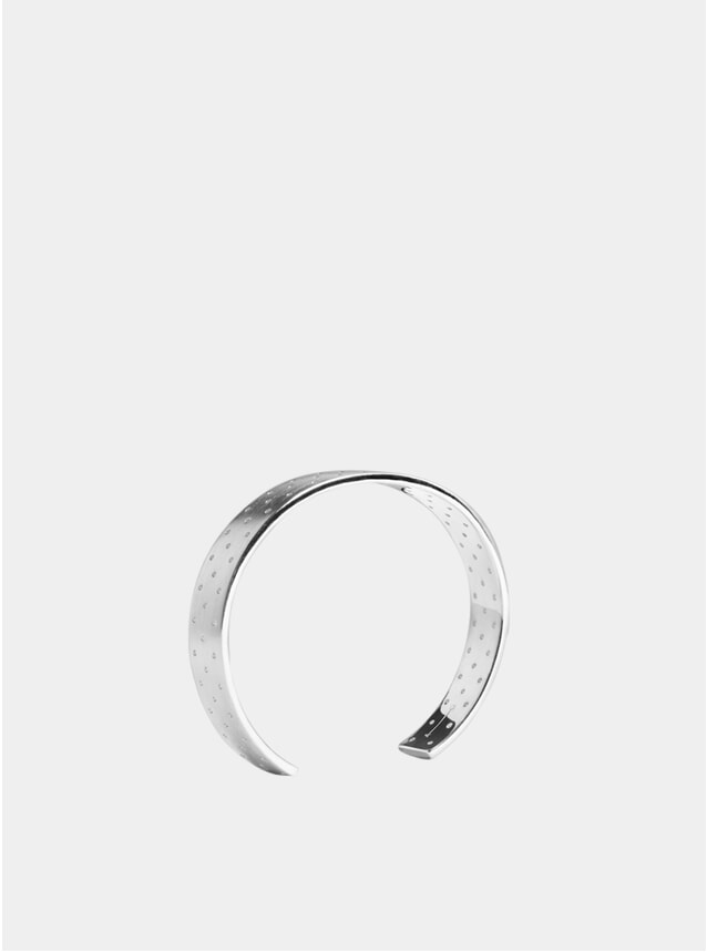 Silver 10mm Punched Cuff