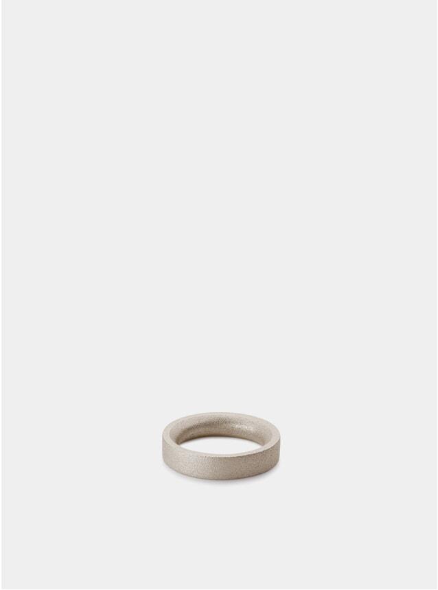 Blasted Silver B6 Bancroft Silver Ring