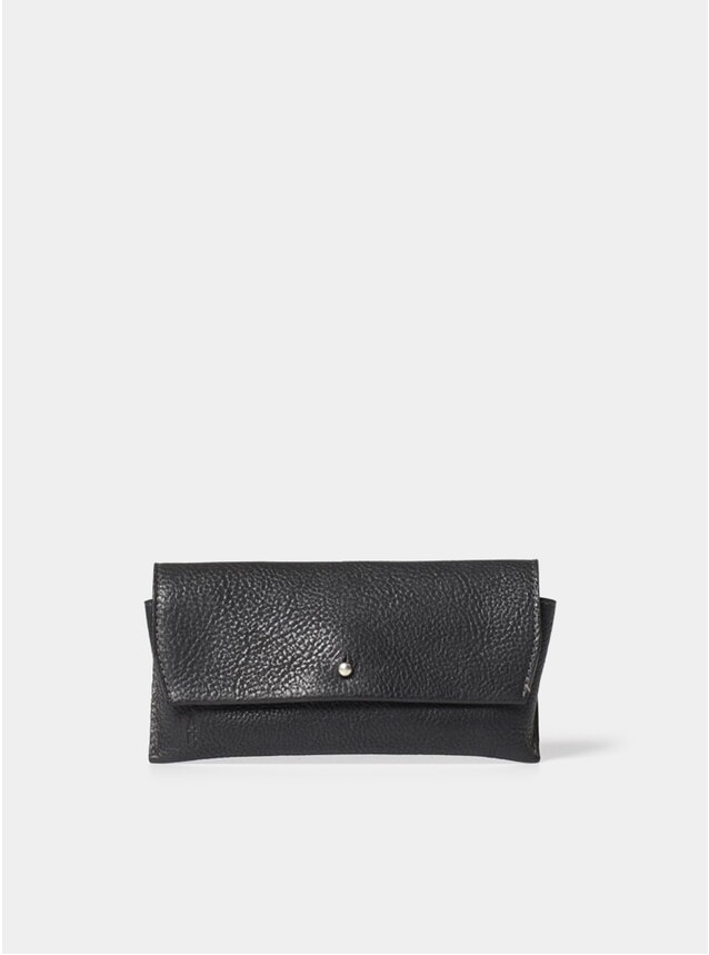 Black Kit Leather Glasses Case