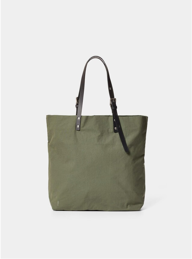 Olive Natalie Waxed Cotton Tote