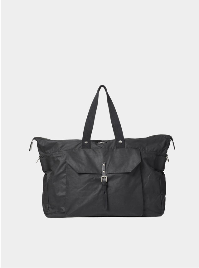Black Freddie Waxed Cotton Holdall