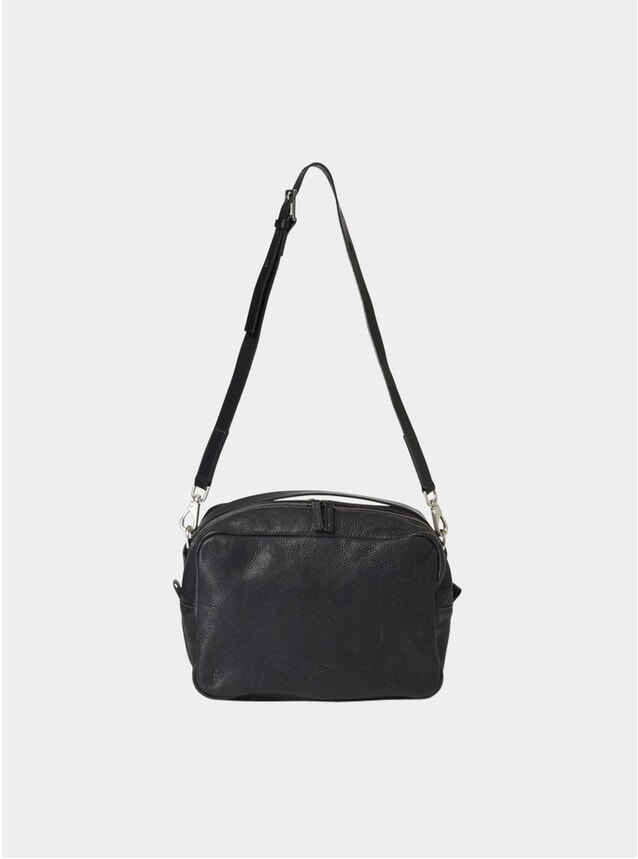 Black Large Leila Calvert Leather Crossbody Bag