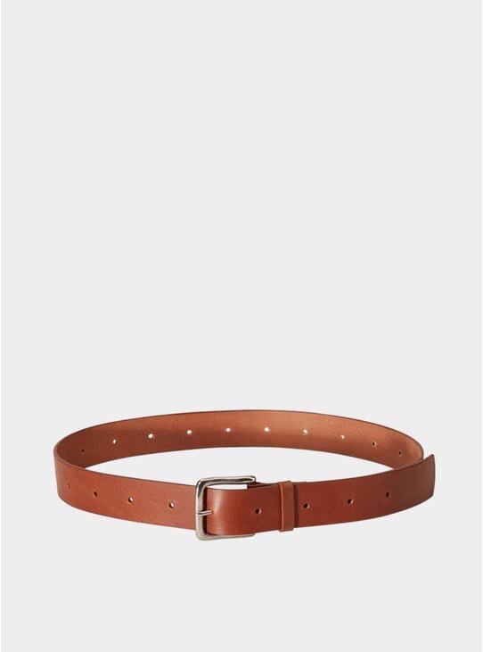 Brown Dennis Wide Leather Belt