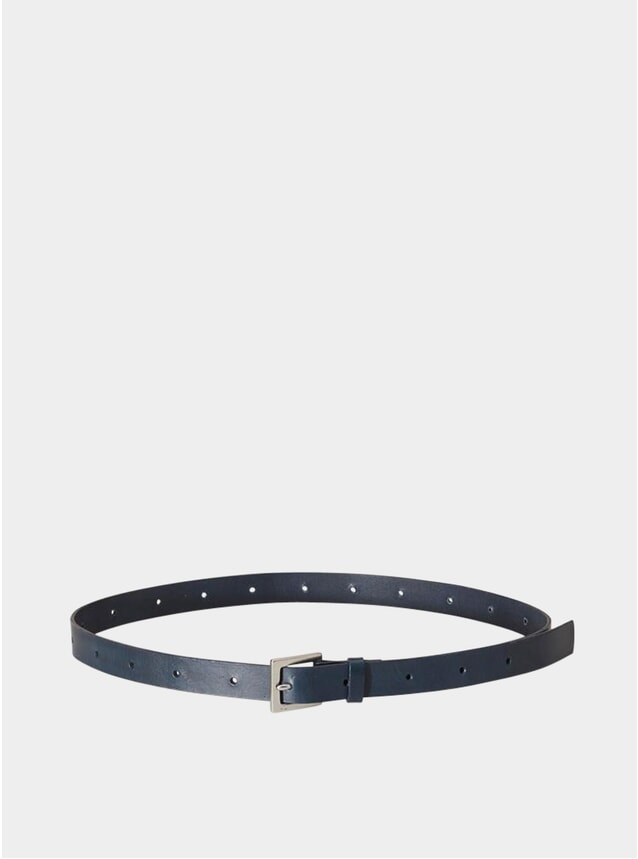 Navy Arty Leather Belt