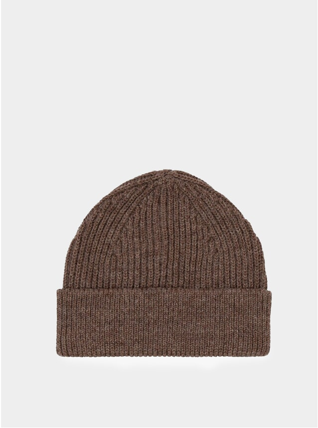 Natural Taupe Short Beanie