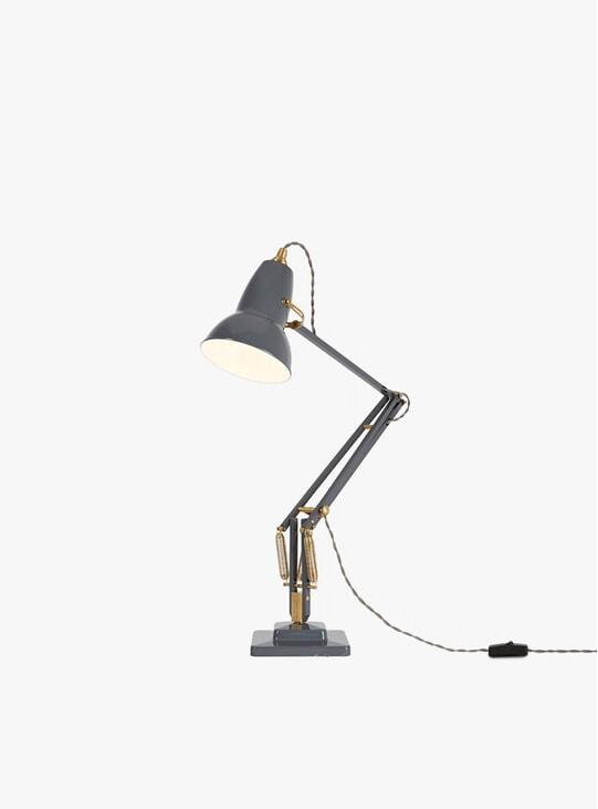 Elegant Grey Original 1227 Brass Desk Lamp