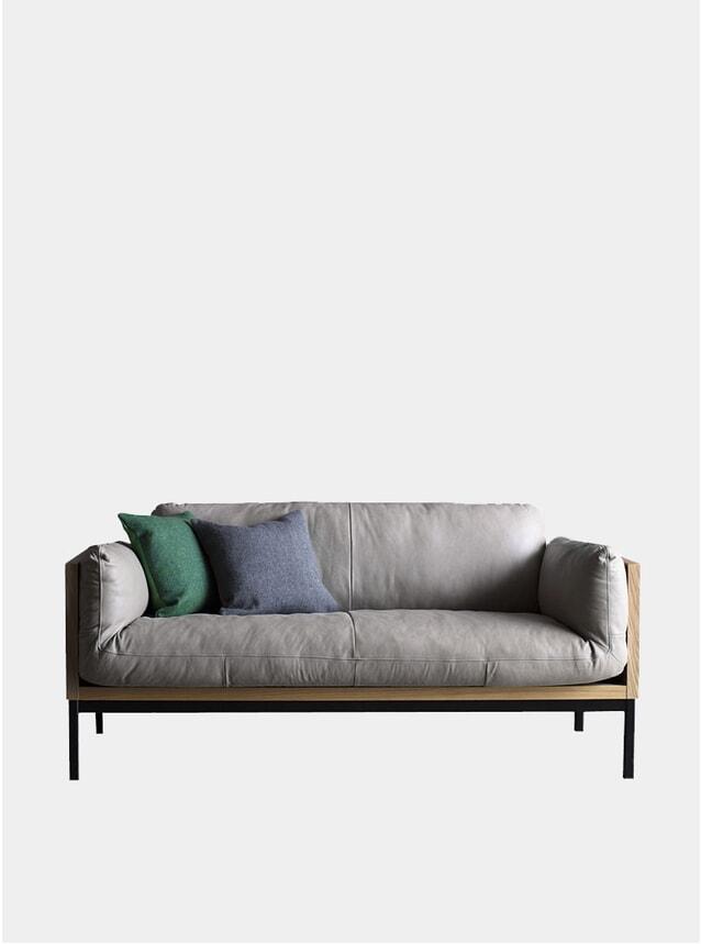 Ash Grey Legna 2 Seater Sofa