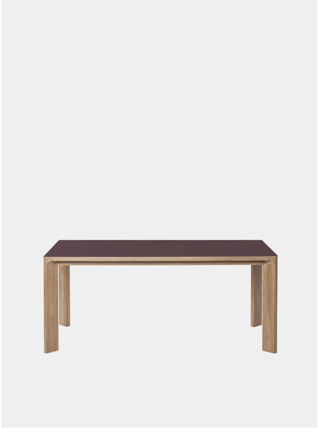 Burgundy Lastra Rectangular Table