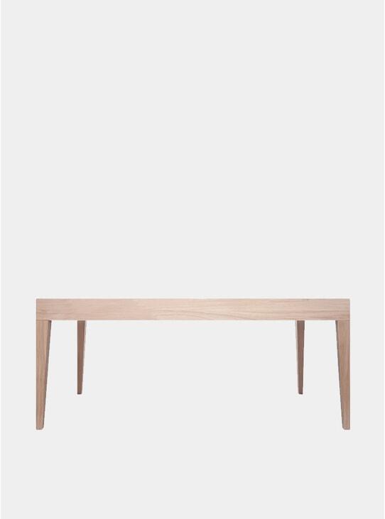 Latte Oak Cubo Rectangular Dining Table
