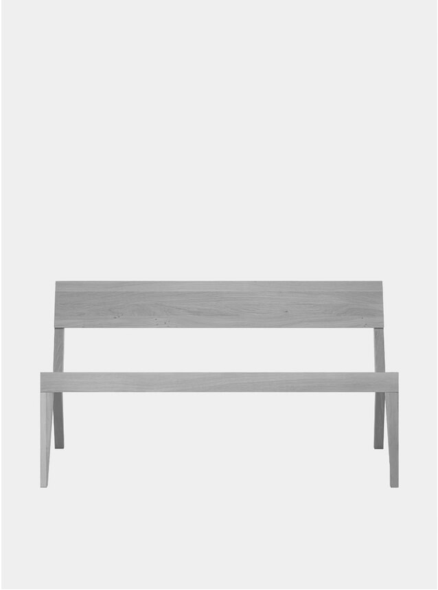 Light Grey Cubo Oak Bench