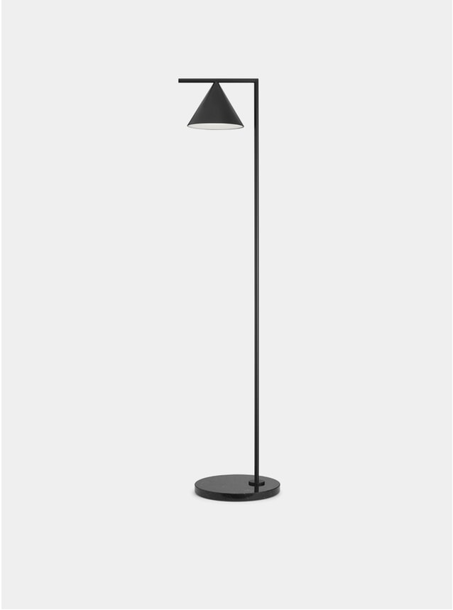 Anthracite / Black Marble Captain Flint Floor Lamp