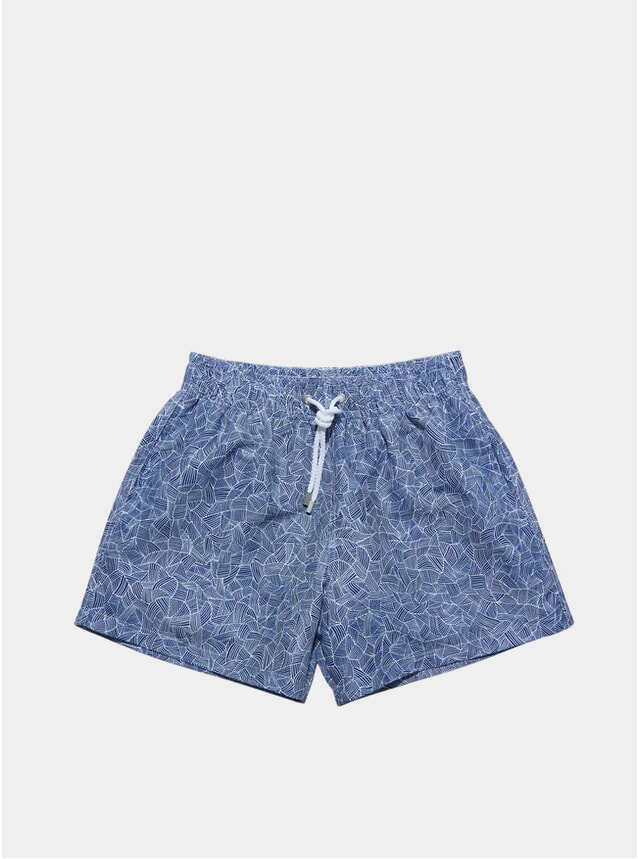 Blue Reflects Swim Shorts