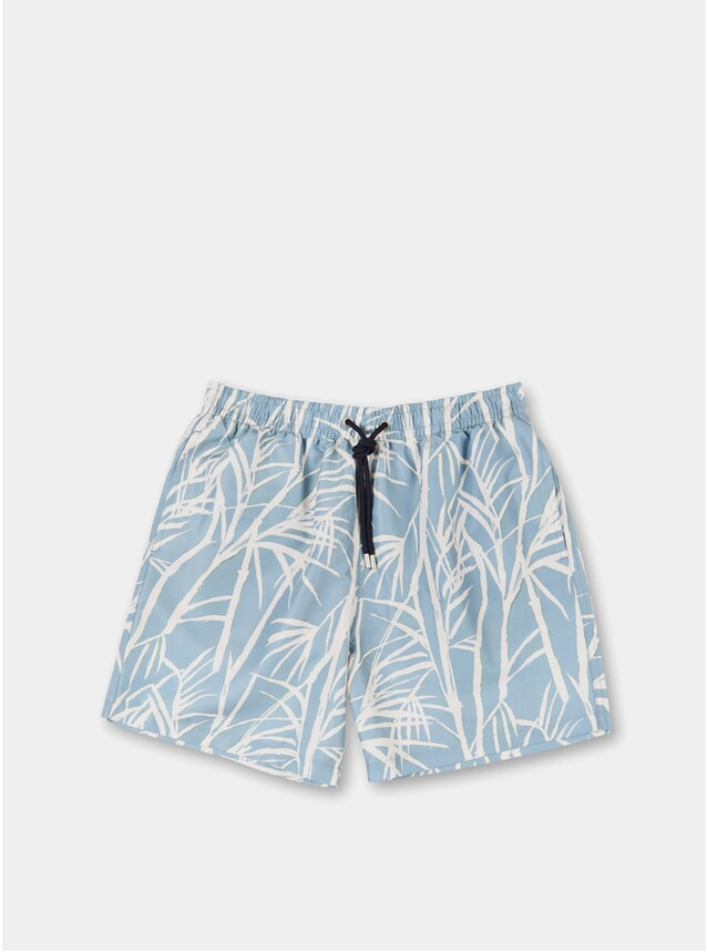 Blue Grey Abysses Swim Shorts