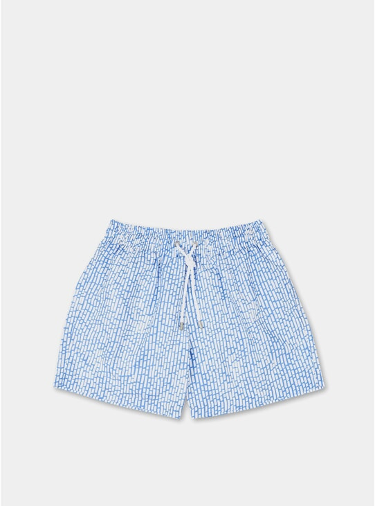 Blue Grey Rivage Swim Shorts