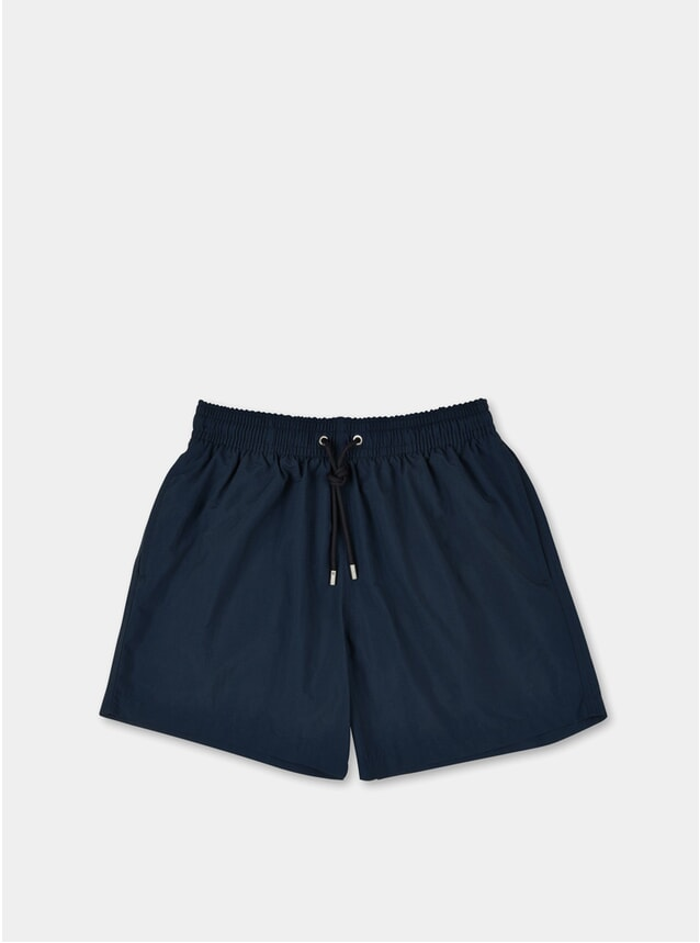 Marine Blue Plain Swim Shorts