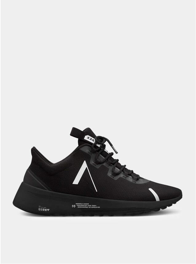 All Black White Axionn Mesh Pwr55 Sneakers