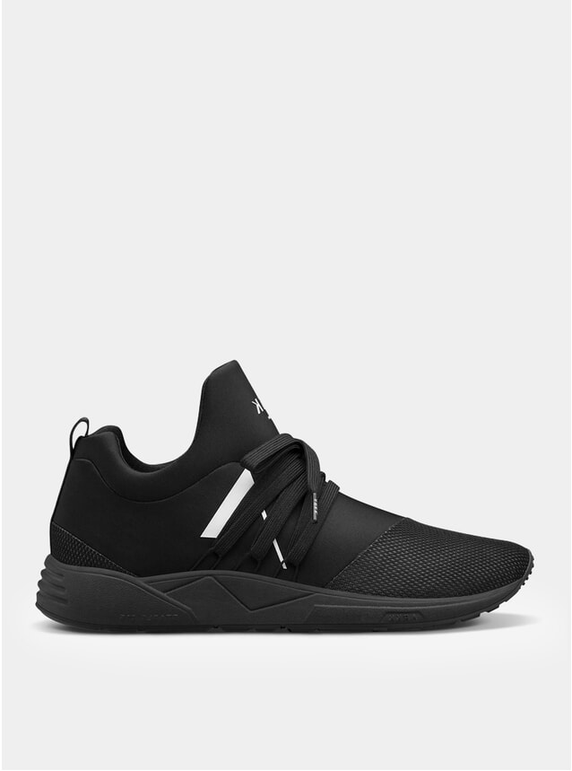 All Black White Raven Mesh S-E15 Sneakers
