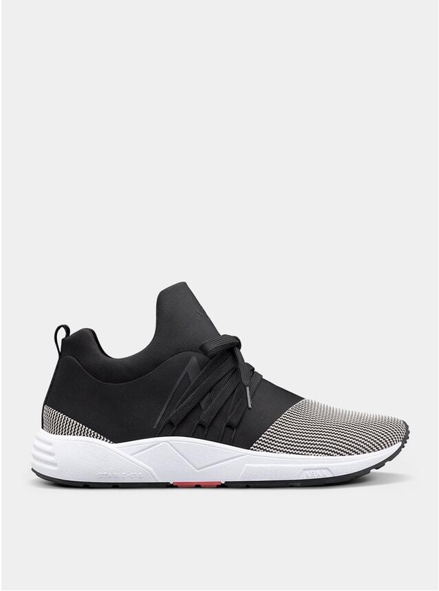 Black White Raven Mesh S-E15 Sneakers