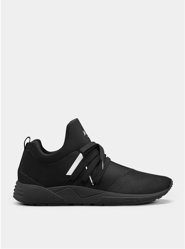 Black / White Raven Mesh S-E15 Sneakers