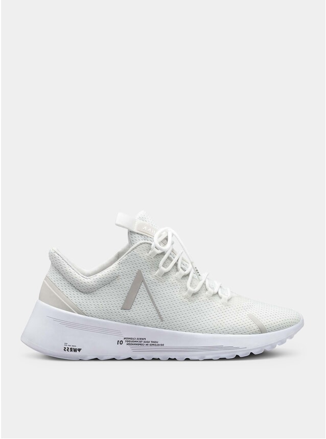 White Wind Grey Axionn Mesh Pwr55 Sneakers