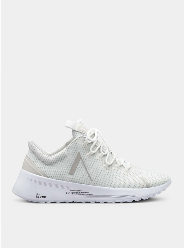 White / Wind Grey Axionn Mesh Pwr55 Sneakers