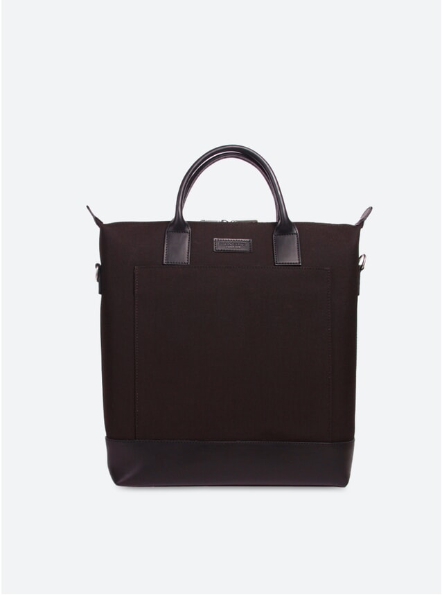 Cordura Black / Black Leather Tiquetonne Tote Bag