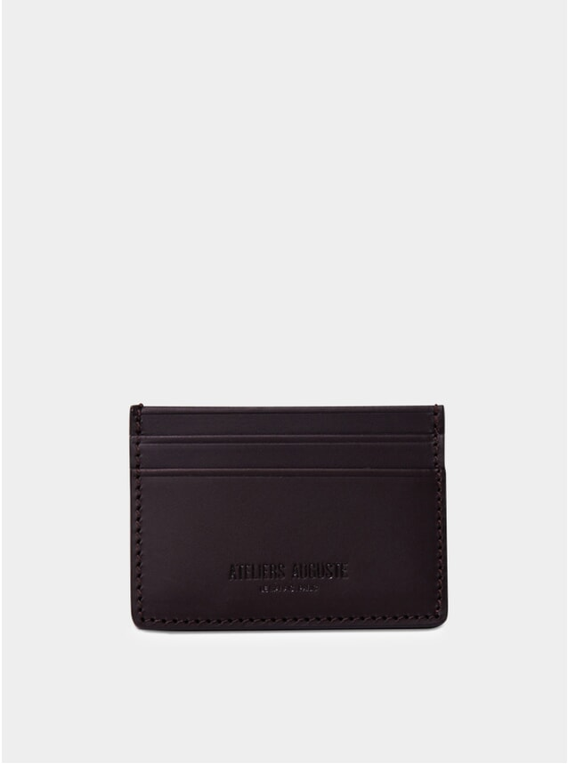 Brown Leather Bouloi Card Holder