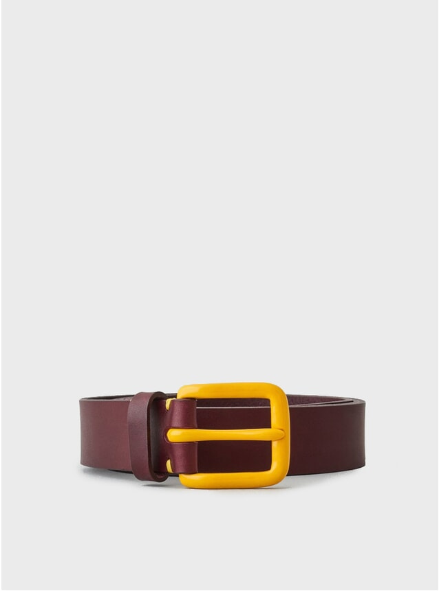 Oxblood / Mustard Buckle LTD Edition Modernist Belt