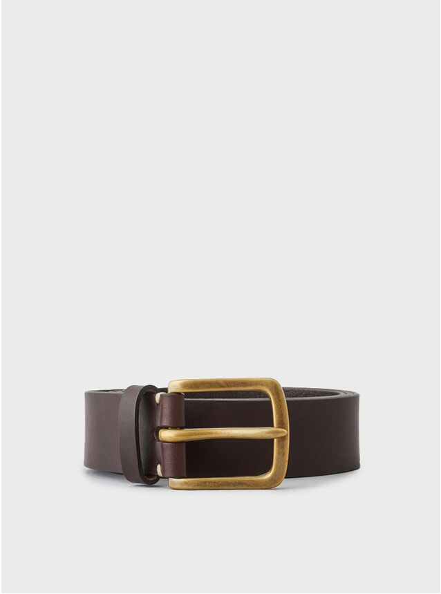 Walnut / Brass Buckle Original Belt