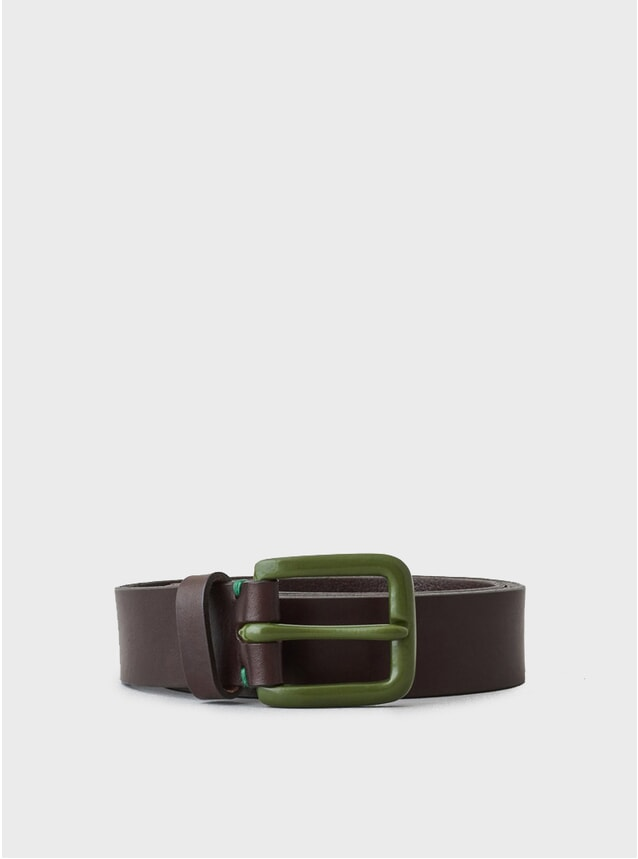 Walnut / Olive Buckle LTD Edition Modernist Belt