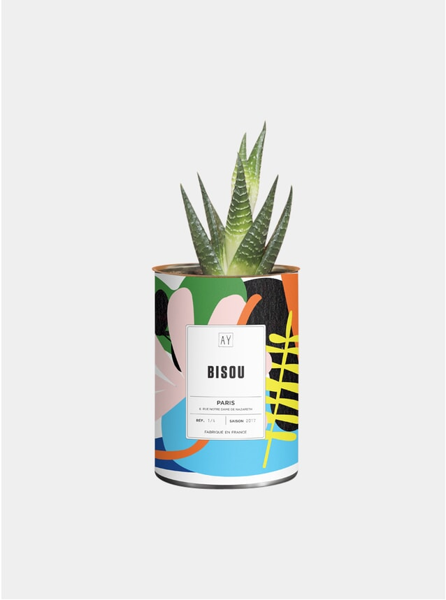 White Bisou Greasy Plant Pot