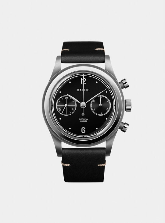 Black Silver / Black Bicompax 001 Watch