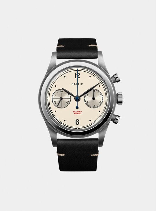 Cream / Black Bicompax 001 Watch