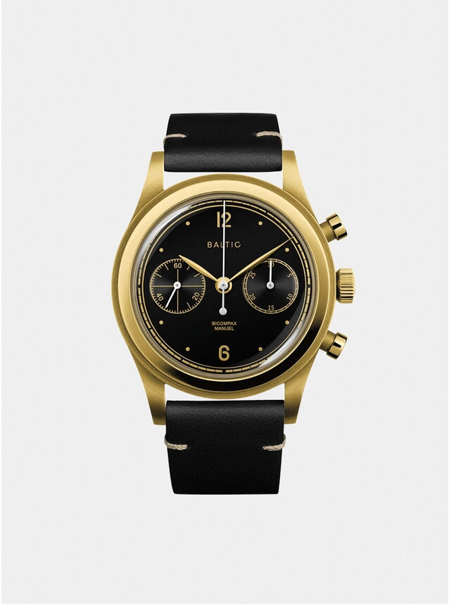 Black / Gold DLC Bicompax 001 Watch