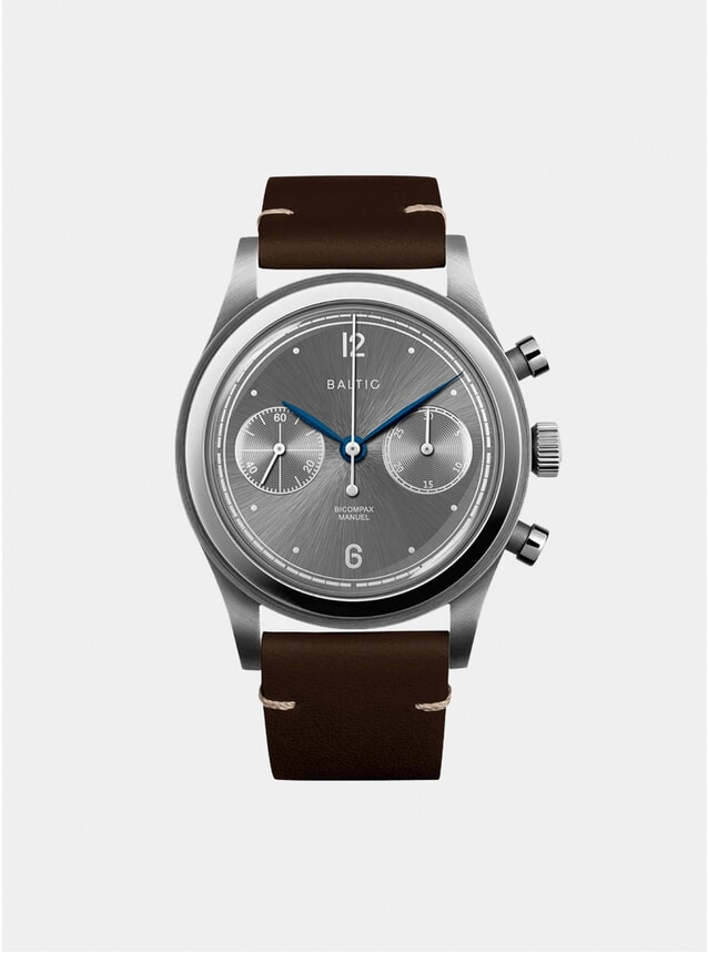 Tobacco / Slate Bicompax 001 Watch