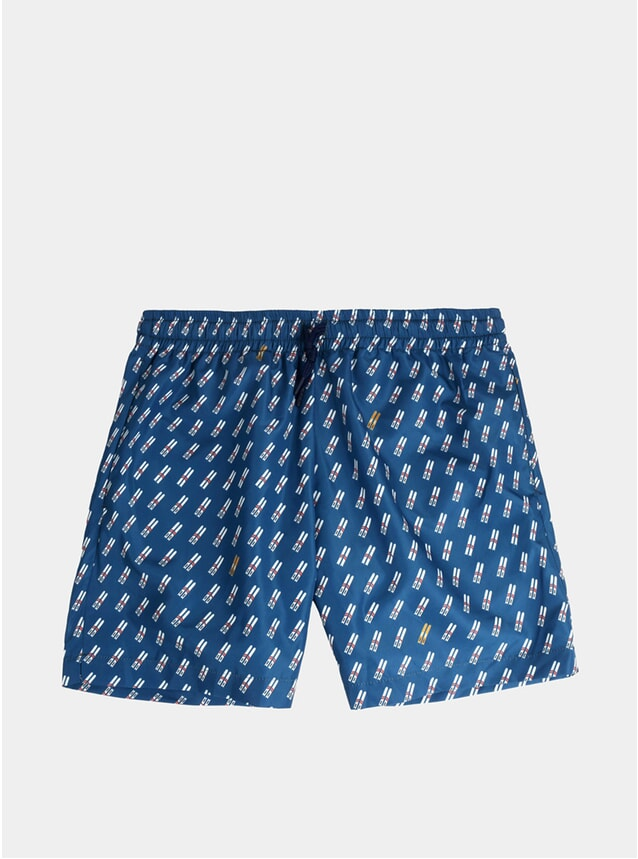 Blue Ski Swim Shorts
