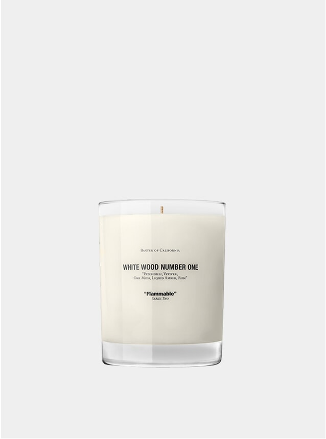White Wood Number 1 Scented Candle
