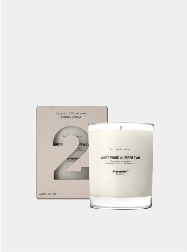White Wood Number 2 Scented Candle