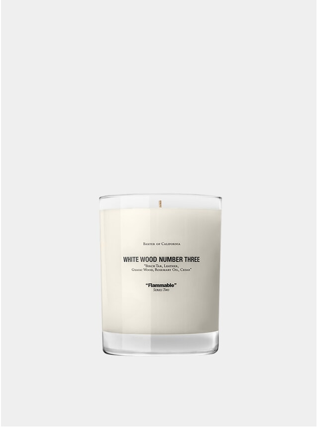 White Wood Number 3 Scented Candle