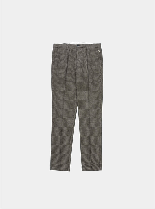 Brown Check Porths Trousers